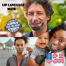 Face Shield Pc Lip Reading mask Transparent face mask Usa Durable Clear Mask