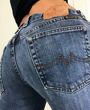 Lucky Brand Womens Mid Rise Flare denim blue jeans size 2 26 x 30