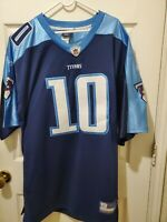 NFL Tennessee Titans On Field Jersey #10 Young Equipment Sewn Size 54 Reebok C8