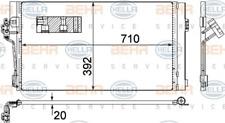 Kondensator, Klimaanlage für Klimaanlage HELLA 8FC 351 343-014