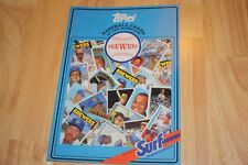 Topps Surf Baseball Card Book - Milwaukee Brewers Mlb 1987 Mint