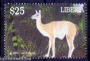 Liberia 2001 MNH, Llama, Domestic Animals