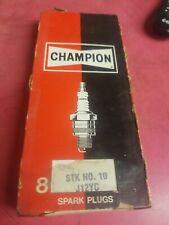 CHAMPION Spark Plugs STK 10 J12YC Set of 8 in  Vintage Box.