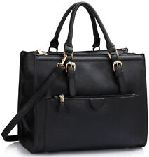 Women's Large 3 Compartment Bags Zipper Pockets Shoulder Tote Handbags For Women