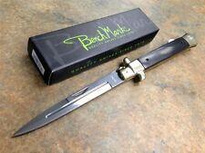 "10.75"" Stiletto Lockback Folding Knife Black Wood Handle NEW Fast Shipping!"