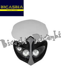8411 - MASCHERINA FARO FANALE ANTERIORE DIAMOND BIANCA ENDURO CROSS NAKED