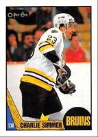 1987-88 O-Pee-Chee Charlie Simmer Boston Bruins #52 Card(s)! LA NM-M OPC Buy 1-9