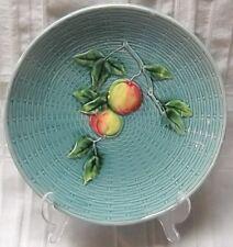 Antique Zell #2230 Robins egg Blue Majolica Plate Fruit and Leaves Baden