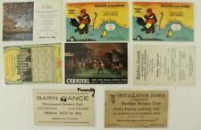 Vintage Paper Postcard Advertising Carnival Drama Ny Club Chicken Rough Menu 8Pc