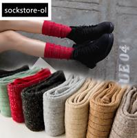 5 Pack Womens Wool Angola Cotton Crew Socks Casual Warm Fashion Bright Boot Warm