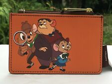 Loungefly Disney The Great Mouse Detective Cardholder 2 Side Slots Zip Top Nwt