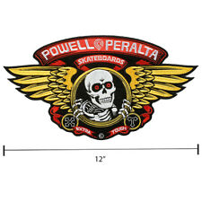 Powell Peralta Winged Ripper Sew On Jacket Patch 12 Inch Old School Skateboard