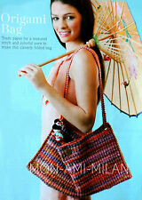 Crochet Motif Mignon Femmes Origami Pli Sac à main Sac Bandoulière Sac à main accessoire