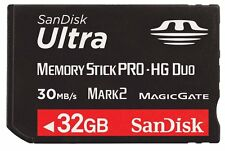 SanDisk 32GB MEMORY STICK MSPD PRO DUO CARD FOR PSP 1000 2000 & 3000 SERIES