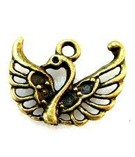 10Pcs. Tibetan Antique Bronze Swan BIRD Charms Ear Drops Pendants Findings BD12