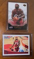 (2 card Lot) 2004/2008 Upper Deck Topps LeBron James 2nd year Rookie Lot #13 #42