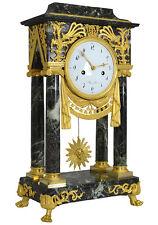 Pendule portique Empire. kaminuhr bronze clock antike uhren marbre horloge