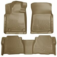 Husky Liners WeatherBeater Floor Mats - 3pc - 98583 - Toyota Tundra 07-11 - Tan