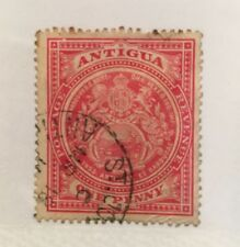 Antigua Scott 32 Coat of Arms One Penny-Used