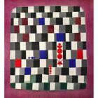 """1960s Paul Klee """"About Checkers"""" Offset Lithograph (Shorewood Publishers)"""