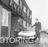 LOTUS FACTORY CHESHUNT LOTUS ELAN #1000 MAR 120C 2 PHOTOGRAPHS 1966