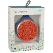 Brand NEW--Logitech X100 Mobile Wireless Bluetooth Speaker w/3.5mm Jack (Orange)
