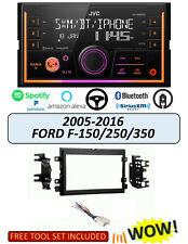 JVC 1din AUTORADIO BLUETOOTH USB Einbaukit per FORD FOCUS II 2007-2010 Nero