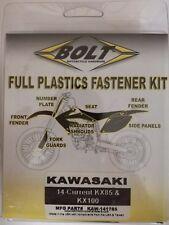 KAWASAKI KX 85/100 2014 - 2017 plastique Kit Fixation remplacement écrous