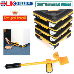 Heavy Furniture Lifter Lifting Easy Moving Slider Mover 360° Caster Roller Tool