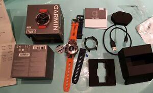 Garmin Fenix 6 PRO Sapphire GPS Uhr 47mm mit Titan Lünette und 2 Armbänder
