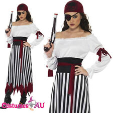 Ladies Smiffys Pirate Lady Costume Womens Wencch Musketeer Caribbean Fancy Dress