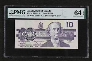 1989 Canada Bank of Canada BC-57a 10 Dollars PMG 64 EPQ Choice UNC