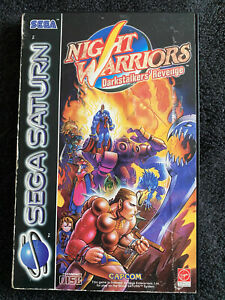 NIGHT WARRIORS: DARKSTALKERS REVENGE SATURN – CASE AND INSTRUCTIONS ONLY