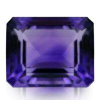 8 x 6 mm Flashing Purple Natural Amethyst Unheated Emerald Cut Loose Gemstones