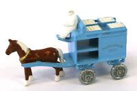 1988 Blue Matchbox Horse Drawn Pateurized Milk Wagon