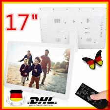 17 Zoll Digitaler Bilderrahmen Wecker Player HD MP3/4 AVI WMA 1440 * 900 HD Weiß