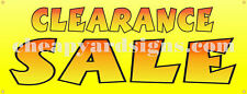 "Clearance Sale Banner Retail 18""x48"" Business Store Sale Sign"