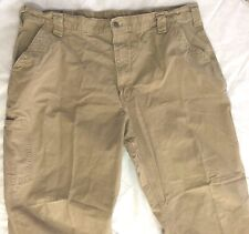 CARHARTT SIZE 42X30 WORK PANTS Work Clothing Dungaree BEIGE Dungaree Fit