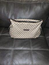 Gucci GG Plus Diaper Messenger Bag Beige/Brown Baby Toddler