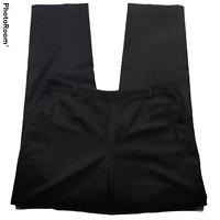 Talbots Womens Pull On Dress Pants Size 10 Tapered Leg Black Stretch Side Zip