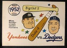 1970 Fleer Laughlin World Series BLUE BACK, 1952 Yankees/Dodgers, Pack Fresh!