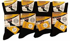 6X men's black diabetic socks diabetic friendly non élastique 99% coton 6-11 taille