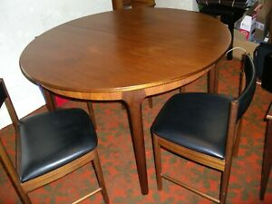 Macintosh 4' Round Teak Dining Table & Four Chairs from 1960s.