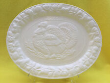 "Turkey Platter, Gibson, Large White, 16 1/2"" x 13"""