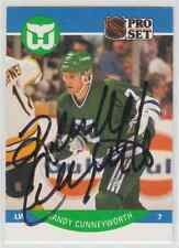 Autographed 90/91 Pro Set Randy Cunneyworth - Whalers
