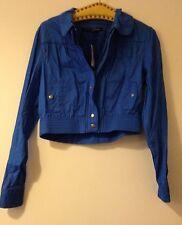 Jane Norman Cropped Blue Women's Jacket (New) – Size 14