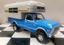 CUSTOM Camper C-10 1972 Chevy Truck 4x4 1/64 DCP Cheverolet  68-72 greenlight