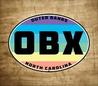 "OBX Sticker Outer Banks North Carolina Decal Vinyl  4"" X 2.8"" Laptop Rainbow"