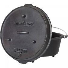 12 Quart Cast Iron Dutch Oven Pre-Seasoned Kitchen Cookware Cooking Pot with Lid