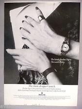 Rolex Lady Oyster Watch PRINT AD - 1977 ~~ wristwatch, Pauline Trigere